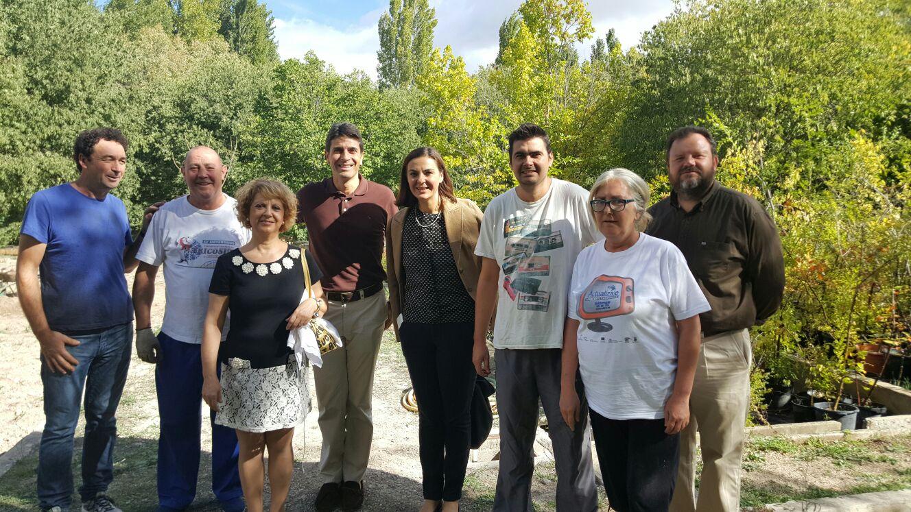 Visita a los talleres de la Asociación en Caravaca